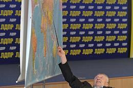 Leader of the Liberal Democratic Party of Russia (LDPR) Vladimir Zhirinovsky delivers a lecture to students of the Institute of World Civilizations.