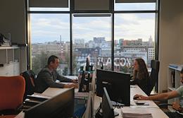 Hutton Development headquarters in the Savelovsky City Business Park on Novodmitrovskaya Street.