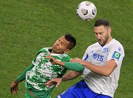 Russian Premier League (RPL). Tinkoff Russian Football Championship 2020/2021. Matchday 8. Match between Dynamo (Moscow) and Akhmat (Grozny) at the VTB Arena stadium.