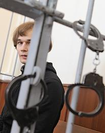 Hearing on the merits of the case against Azat Miftakhov, Elena Gorban and Andrey Eikin, accused of assault on the office of the United Russia party, in the Golovinsky District Court.