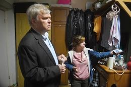 Residents of the hostel at 57 Dubininskaya street, building 2 are evicted from their apartments.