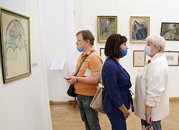 Exhibition of Viktor Borisov-Musatov in the Radishchev Museum in Saratov.
