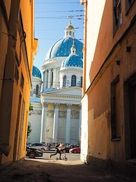 Views of the Cathedral of the Holy Life-Giving Trinity of the Life-Guards Izmailovsky Regiment.