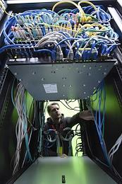 Data processing center of 3data company.