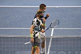 XXV International tennis tournament ATP St. Petersburg Open 2020 at the sports complex 'Sibur Arena'. Finals.