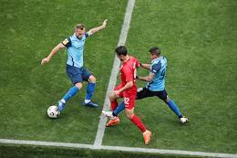 Russian Premier League (RPL). Tinkoff - Russian Football Championship 2020/2021. 11th round. Rotor (Volgograd) vs Tambov (Tambov) at the Volgograd Arena stadium.