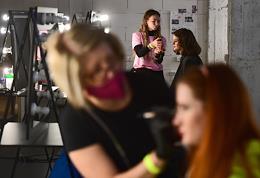 Mercedes-Benz Fashion Week Russia. Fashion show LES 'by Lesia Paramonova, MAISON ESVE in the Nadezhda loft.