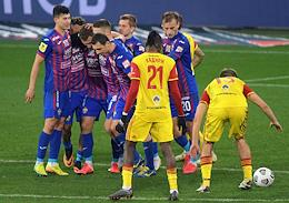 Russian Premier League (RPL). Tinkoff - Russian Football Championship 2020/2021. 12th round. CSKA (Moscow) vs Arsenal (Tula) at the VEB Arena stadium.