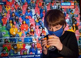 Genre photography. Russian President Vladimir Putin met via videoconference with the finalists of the Big Break competition held at the Artek international children's center in Crimea.