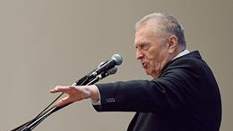 Russia's National Unity Day. Leader of the Liberal Democratic Party of Russia (LDPR) Vladimir Zhirinovsky during a festive meeting with LDPR activists and students of the Institute of World Civilizations in the assembly hall of the Institute of World Civilizations.