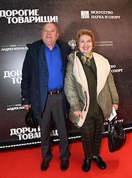 Premiere of Andrei Konchalovsky's film 'Dear Comrades' at the Karo 11 October cinema.