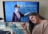 Genre photos devoted to distance learning.