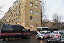House at Proletarskaya Street in Kolpino. Where a man took the children hostage.