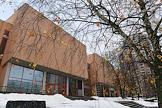 The facade of the Russian Children's Clinical Hospital (RGDKB) on Leninsky Prospect.