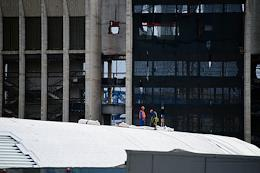Dismantling of the Olimpiisky sports and entertainment complex.