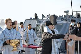 In the Novorossiysk Naval Base (NVMB) of the Black Sea Fleet (BSF), ceremonial events were held to admit a new patrol ship (PC) Pavel Derzhavin to the Black Sea Fleet.