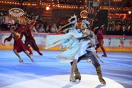 The opening ceremony of the GUM skating rink on Red Square.