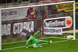 Russian Premier League (RPL). Tinkoff - Russian Football Championship 2020/2021. 16th round. Spartak (Moscow) vs Rotor (Volgograd) at the Otkrytie Arena stadium.