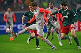 UEFA Football Champions League. 5th round. Lokomotiv (Russia, Moscow) vs Red Bull Salzburg (Salzburg, Austria) at the Russian Railways Arena stadium.