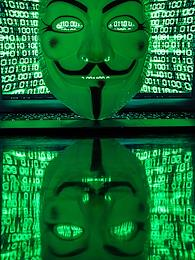 Genre photography. Still life devoted to hackers and information security.