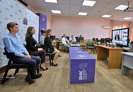 Online meeting of President Vladimir Putin with students on Russian Students' Day.