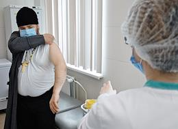 Voluntary vaccination of representatives of religious communities of the Spiritual Directorate of Muslims of the Republic of Tatarstan (SAM RT) and the Kazan Eparchy in the polyclinic at the city clinical hospital No. 7.