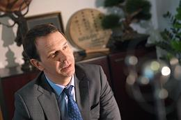 Director of the Joint Institute for Nuclear Research, Academician Grigory Trubnikov during an interview.
