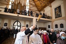 Easter service in the parish of St. Adalbert.