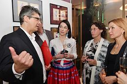Opening of an exhibition of prints by Lev Bakst in the Victory Park Residences art space.
