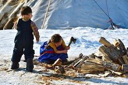 Nenets reindeer breeders of the Polar Urals. Yamalo-Nenets Autonomous Okrug.