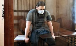 The meeting on the criminal case of former FSB colonel Kirill Cherkalin, accused of large-scale fraud and receiving an especially large bribe, at the Moscow Garrison Military Court.