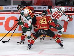 Continental Hockey League (KHL). Championship season 2020/21. Avangard (Omsk) vs Ak Bars (Kazan) at the Yury Lyapkin Arena-Balashikha stadium.