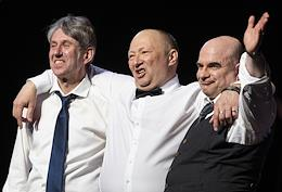 Artists of the anniversary evening of Yuri Galtsev at the Variety Theater.