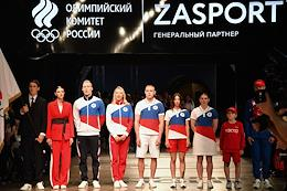 Presentation of the ZASPORT brand outfit collection for the athletes of the Russian national team for the XXXII Olympic Summer Games in Tokyo. The presentation took place at the Cosmonautics and Aviation Center at VDNKh.