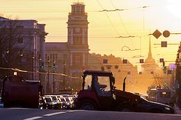 Genre photographs. Views of Nevsky Prospect.