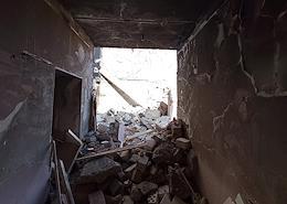 Victim of the February bombing of a house on Meshcherka.