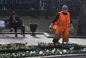 Spring in Moscow.