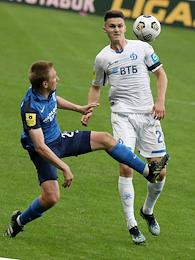 Russian Premier League (RPL). Tinkoff - Russian Football Championship 2020/2021. 26th round. Rotor (Volgograd) vs Dynamo (Moscow) at the Volgograd Arena stadium.