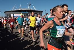 Arena half marathon in St. Petersburg.