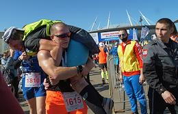 Arena Half Marathon in St. Petersburg. The races took place near the Gazprom Arena stadium on Krestovsky Island.