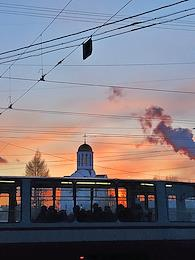 Sunset in St. Petersburg.