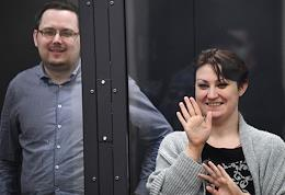 Hearing of the appeal against the decision of the Kaliningrad Regional Court, which sentenced spouses Antonina Zimina and Konstantin Antonets to 13 and 12.5 years in prison, respectively, for treason in favor of the Latvian intelligence in the First Court of Appeal.
