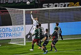 1/2 finals of the BETCITY Russian Football Cup 2020-2021. Lokomotiv (Moscow) vs CSKA (Moscow) at the Russian Railways Arena stadium.