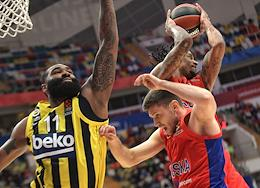 Basketball Euroleague. 1/4 finals. CSKA (Moscow, Russia) vs Fenerbahce (Istanbul, Turkey) at the Megasport stadium.