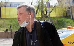 Politician Vladimir Ryzhkov during a court hearing at Khamovnichesky District court.