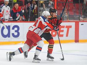 Continental Hockey League (KHL). Championship season 2020/21. The final. Avangard (Omsk) vs CSKA (Moscow) at the Yury Lyapkin Arena-Balashikha stadium.