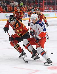 Continental Hockey League (KHL). Championship season 2020/21. The final. Avangard (Omsk) vs CSKA (Moscow) at the Yury Lyapkin Arena-Balashikha stadium.
