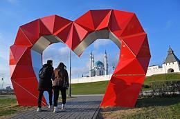 Views of Kazan. Genre photography.