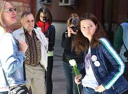 Announcement of the verdict to Olga Misik, an activist of the Perpetual Protest, at the Judicial District of the Magistrate No. 369.
