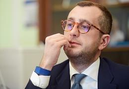 Interview with the vice-governor of St. Petersburg Boris Piotrovsky in his office in Smolny